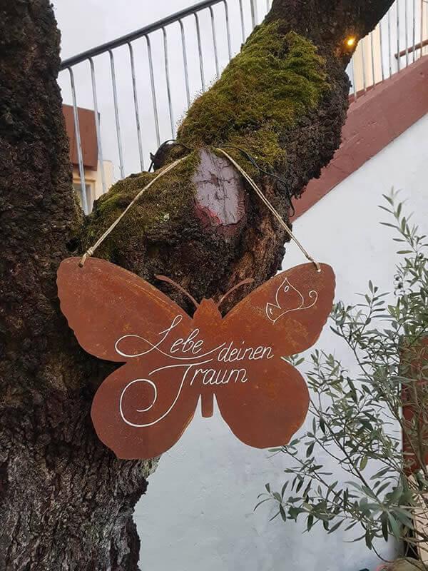 Schmetterling: Lebe Deinen Traum! - Mandelblütenhof Neustadt